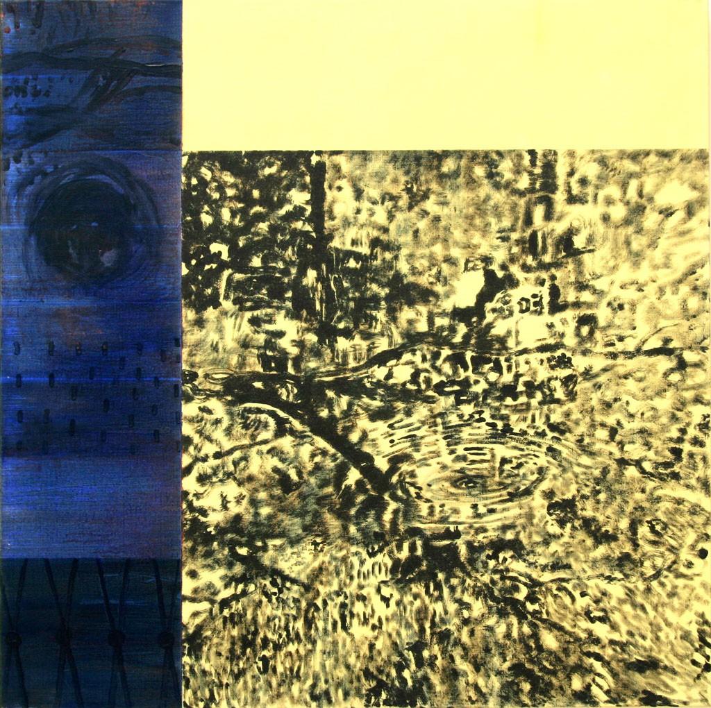 Buszno mit Wasser, 140x140, Acryl, Pigment, 2007