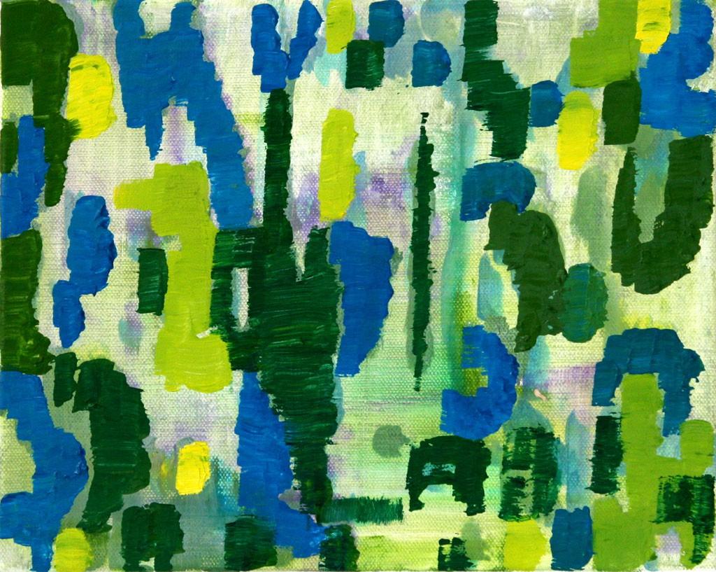 Gegenlicht 1K, Öl, 24x30, 2012