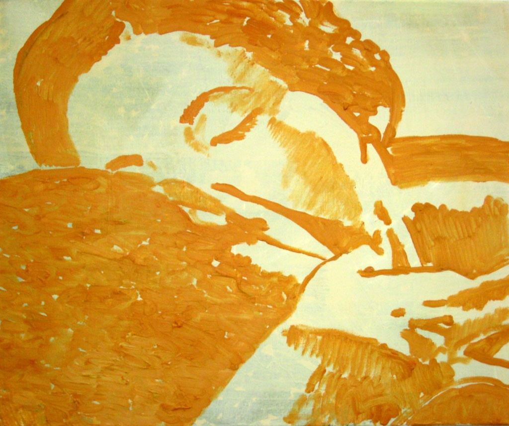 Der Kuss, 50x60, Acr.Pigm., 2008