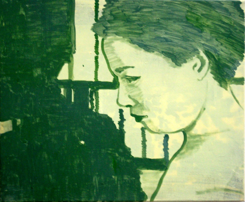 Jap. Frau mit Schatten, 50x60, Acr. Pigm., 2008