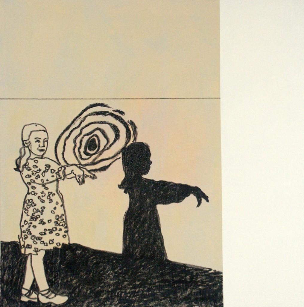 Mädchen mit Schatten, 140x140, 2006