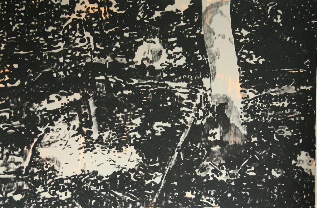 Wald, 80x120, Acryl, Pigment, 2009